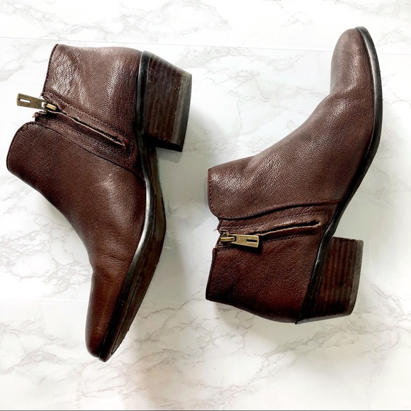 4053f9ffb Sam Edelman Petty Ankle Bootie Brown Leather 38. M 5b7338d69e6b5b8703df3c84